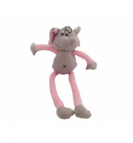 Слон с длинными розовыми ногами